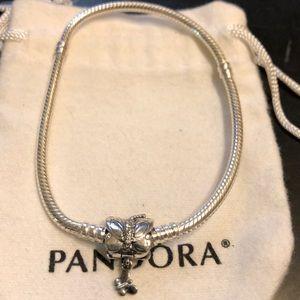 Pandora butterfly 🦋 bracelet sz 7.9